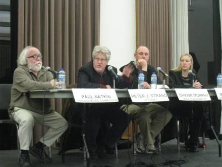 Panelists Paul Natkin, Peter Strand, Shawn Murphy and Marci Rolnik