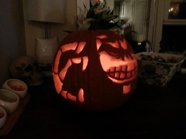 tim burton nightmare before christmas pumpkin design