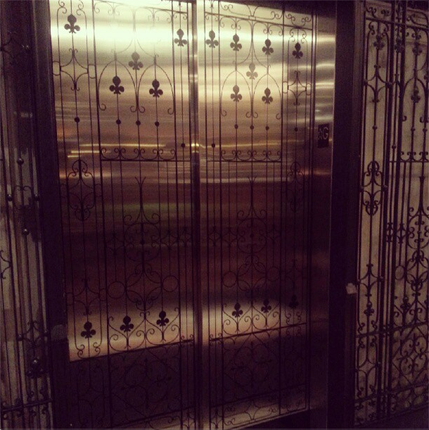 Elevators at the Burnham Hotel