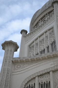 Details of the temple facade