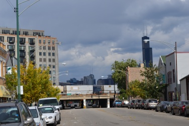 Wandering around Pilsen. Luckily the gray clouds held off most of the day.