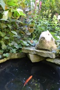 This one woman's garden had a pond complete with koi fish