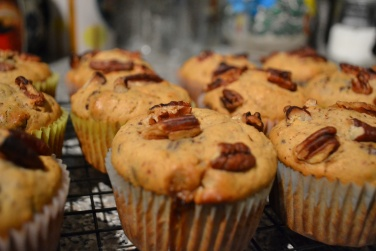 Chocolate pecan muffins