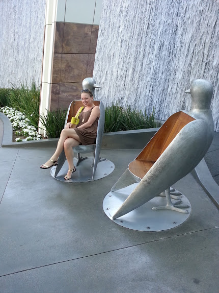 I mean, how cool are these pigeon (or dove?) chairs outside the Aria?