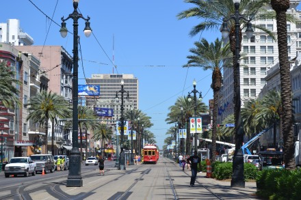 Since our hotel was on the other side of Canal Street from the French Quarter, every day we'd cross the trolley rails to start that day's adventure.