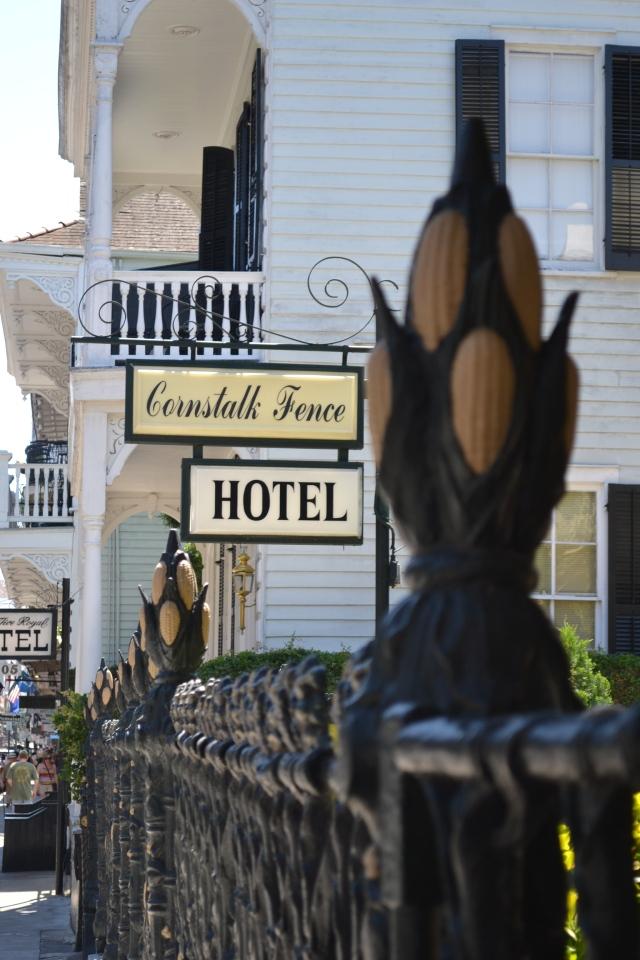 The iconic Cornstalk Fence Hotel