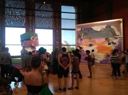 hebru brantley parade day rain chicago cultural center art exhibit