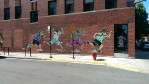 hebru brantley wicker park mural running flyboys