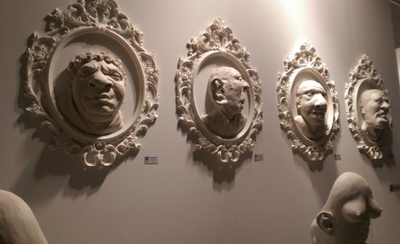 rodrigo lara zendejas art white plaster faces