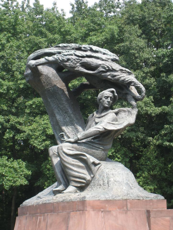 Chopin monument lazienki park warsaw warszawa poland polska