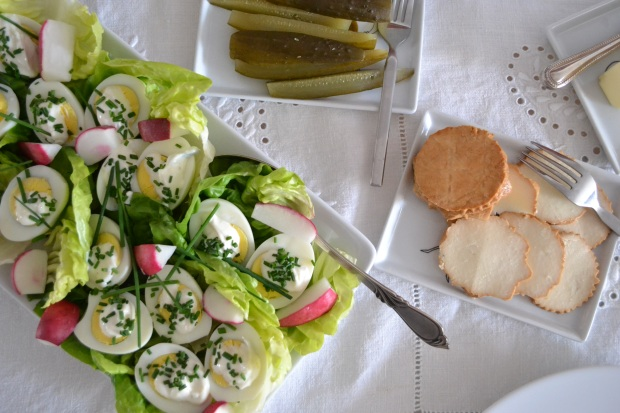 easter eggs jajka polish cheese pickles ogorki kiszone ser