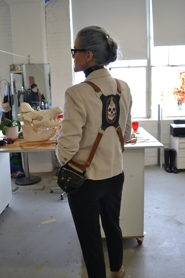 dawn korman mana contemporary artist studio leather