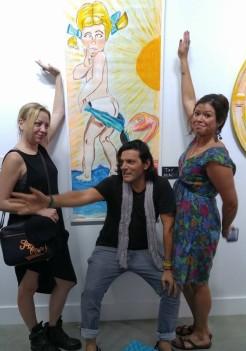 marcello ibanez chalk art gallery exhibit wynwood miami