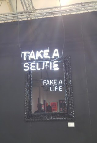 scope art fair miami beach art basel 2015 take a selfie mirror fake a life