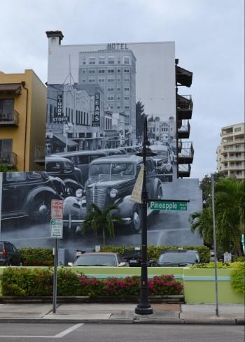 mural sarasota street art burns square historic district pineapple street