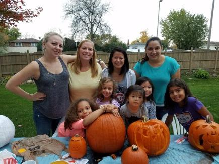 carving halloween pumpkins