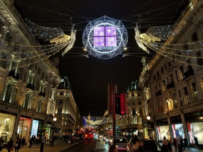 london holiday lights oxford street december