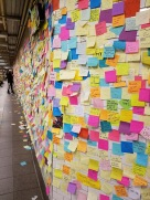 post it notes inspirational subway nyc new york