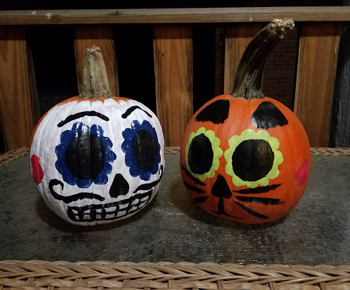 painted pumpkin halloween diy