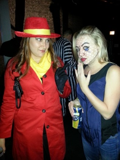 pop art girl halloween makeup carmen sandiego