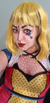 pop art girl halloween makeup lichtenstein